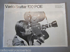 SWISS INSTRUCTION MANUAL for BOLEX VARIO-SWITAR 100MM POE LENS 16MM MOVIE CAMERA