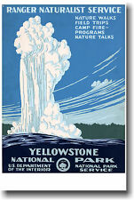 Yellowstone National Park - Geyser - NEW Vintage Art Print POSTER