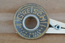 GENUINE 1960's GRETSCH ROUND BADGE + GROMMET for YOUR BASS DRUM & SET! LOT #V744