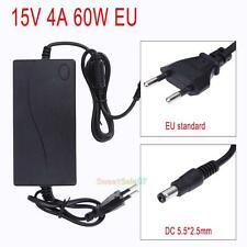 60W AC to DC 15V 4A Power Supply Adapter Charger for Laptop Printer GPS EU Plug
