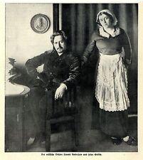 Der russische Dichter Leonid Andrejew und seine Gattin Histor. Memorabilie 1912
