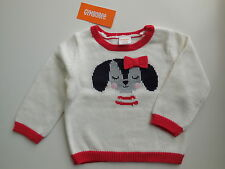 GYMBOREE BABY GIRL PUPPY DOG KNITTED JUMPER SWEATER SIZE 0 FITS 6-12M *NEW