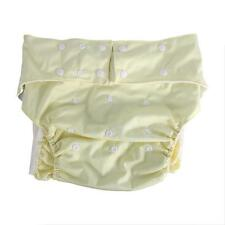Waterproof Adjustable Adult Cloth Diaper Light Yellow for Incontinence LJ