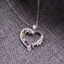 South Korea Style Fashion Exquisite Rhinestone Necklace Heart Shaped Female Wild