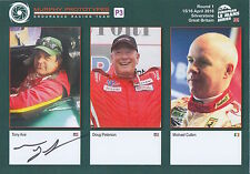 Tony Ave Hand Signed Le Mans Promo Card 2016 WEC Murphy Racing.