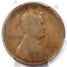 1909-S VDB Lincoln Wheat Cent 1C - PCGS F12  - Rare Key Date Certified Penny