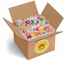 Candy Creek Fruit Lollipops, Bulk Suckers 5lb, 10 Fruit flavors, about 300