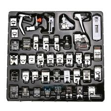 42x Domestic Sewing Machine Foot Feet Snap Presser Set For Brother Janome Singer