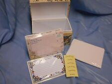 BLUEBIRDS NEW RECIPE CARD BOX 4X6 SUSAN WINGET MAIN STREET PRESS DIVIDERS TABS