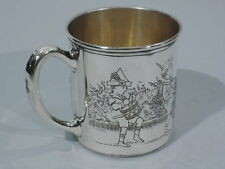 Morss Cup  Christening Baby Cup  Parade  American Sterling Silver