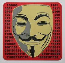 Anonymous Guy Fawkes morale PVC patch with contact tape (hook and loop)