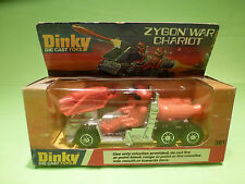 DINKY TOYS 361 ZYGON WAR CHARIOT - SILVER GREY RED - RARE SELTEN - GOOD IN BOX