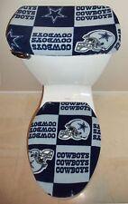 NFL DALLAS COWBOYS Block Fabric Toilet Seat Cover Set Bathroom Accessories