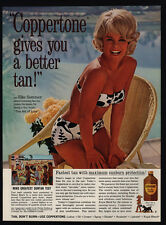 1965 ELKE SOMMER in Bikini - Art Of Love Movie Release- OPPERTONE Tan VINTAGE AD
