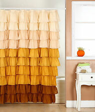 Ruffle Shower Curtain Spring Home  Design  Flamenco  Fabric Shower Curtain Bath