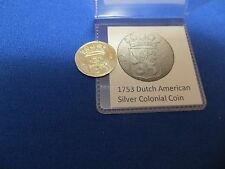 1753 Silver Early American Colonial Coin Before US Independence 264 Years Old