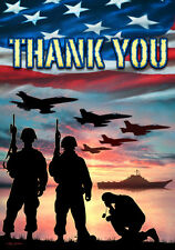 Thank You - We Will Never Forget - Double Sided 12 x 18 Garden Flag FM1445 - USA