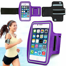 Sports Running Jogging Gym Armband Waterproof Case Cover for iPhone 4, 4s Purple