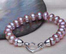 珍珠手鍊 紫色天然淡水珍珠手鍊