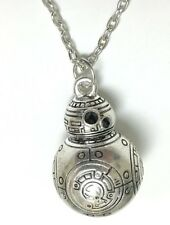 "Star Wars The Force Awakens BB-8 SILVERTONE Necklace WITH 20"" CHAIN-USA SELLER"