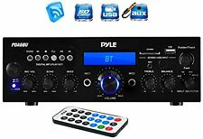 Pyle PDA6BU 200 Watt Bluetooth Stereo Amplifier Receiver with Remote Control and