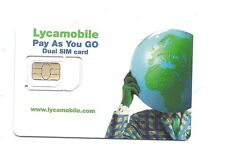 Lycamobile prepaid gsm dual cut sim card with $35 plan  worldwide roaming