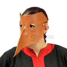 Epidemic Medieval Plague Doctor Leather Physician Mask of Empirics Covenant