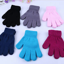 Autumn Winter Magic Gloves for Kids Boys Girls Solid Gloves Random EF