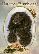 Portuguese Water Dog Design A6 Textured Birthday Card BDPORTWATER-1 paws2print