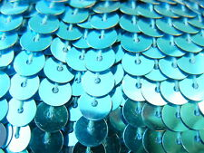 5 meters 6mm Round Flat Sequin Fabric Trim Lining String - Turquoise Teal Blue
