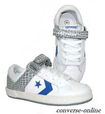 KID Boy Girl CONVERSE All Star SQUID OX WHITE LEATHER Trainers Shoe SIZE UK 12.5