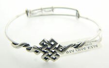 NEW ALEX AND ANI ENDLESS KNOT WRAP CHARM BANGLE WITH SILVER FINISH 132