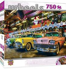 MASTERPIECES WHEELS JIGSAW PUZZLE THREE BEAUTIES 750 PCS CLASSIC CARS #31689
