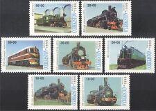 Uzbekistan 1999 Trains/Steam/Electric Locomotive/Railway/Transport 7v set n42958