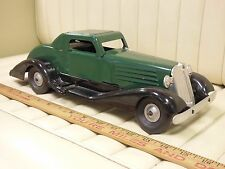 1930 MARX Coupe Wind Up Tin Toy Car w/ Siren