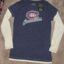 NEW NHL Montreal Canadiens Long Sleeve T Shirt L/S Women Ladies L Large Layeredl