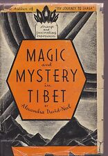 MAGIC & MYSTERY IN TIBET Alexandra David-Neel 1935 hc/dj OCCULT MYSTICS ...
