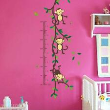 Nursery Home DIY Decor Child Height Measure Monkey Tree Wall Sticker Vinyl Art