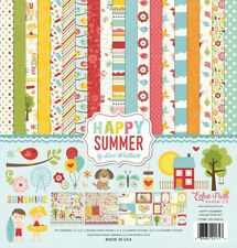 """ECHO PARK """"HAPPY SUMMER""""12X12 PAPER  COLLECTION FAMILY SUMMER SCRAPJACK'S PLACE"""