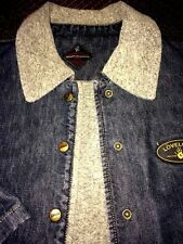 LOVELOCK DENIM JACKET WITH GRAY FLEECE LINING, QUILT LINED SLEEVES, MISSES XL