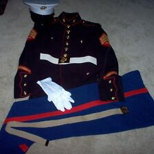 USMC US Marine Corps Complete dress Blue Uniform Sgt. 43