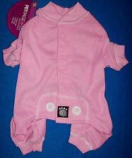 "New Size Small Pink ""Thermal Underwear"" Dog Pajamas Sleepwear Dog Clothes"