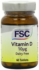 FSC Vitamin D (D3) 400iu 60 Tablets *BUY 1 GET 1 FREE*