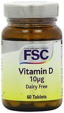 FSC Vitamine D (D3) 400iu 60 Comprimés ACHETEZ 1 OBTENEZ 1 GRATUIT