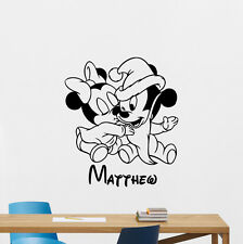 Mickey Mouse Personalized Name Wall Decal Disney Vinyl Sticker Baby Decor 218crt