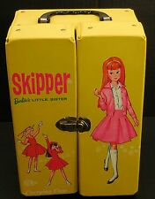 Vintage SKIPPER Yellow Vinyl Carrying Doll Case Trunk Wardrobe 1964 Barbie 5309