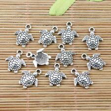 24pcs tibetan silver tone turtle charms EF2213