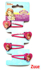 Disney Junior Sofia the First Hair Snap Clips - Pack of 4