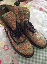 Floral Doc Martens Boots Size 6