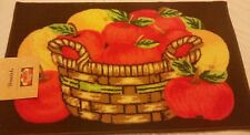 """PRINTED NYLON KITCHEN RUG (non skid latex back) (18"""" x 30""""), BASKET with APPLES"""